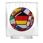 Soccer Ball With Flag Of German In The Center Shower Curtain