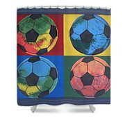 Soccer Balls Shower Curtain