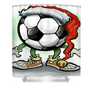Soccer Christmas Shower Curtain