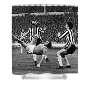 Soccer Match, 1976 Shower Curtain by Granger
