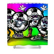 Soccer Party Shower Curtain
