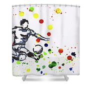 Soccer Player In Action Shower Curtain