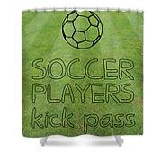 Soccer Players Kick Pass Poster Shower Curtain