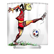Soccer Striker Shower Curtain