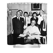 Social Security Act, 1935 Shower Curtain