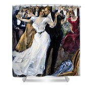 Society Ball, C1900 Shower Curtain