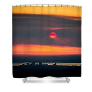 Sockeye Fire Shower Curtain