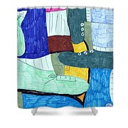 Socks And Shoes Shower Curtain