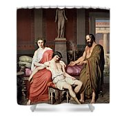 Socrates Chiding Alcibiades Shower Curtain