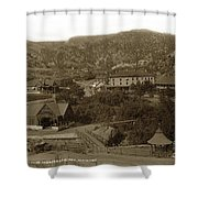 Soda Springs And Cliff House In Manitou, Colorado Shower Curtain