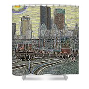 Sodo Tracks Shower Curtain