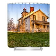 Sodus Point Lighthouse And Museum Shower Curtain