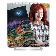 Sofia Goldber - About Mars Civilization. 5 Shower Curtain
