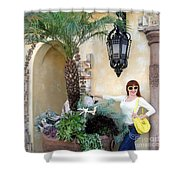 Sofia Goldberg. Sunny Day Shower Curtain