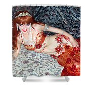 Sofia Metal Queen. Ameynra Bellydance Star Model Shower Curtain