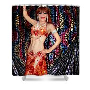 Sofia Metal Queen - Belly Dancer Model At Ameynra Shower Curtain
