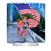 Sofia Metal Queen. Born 4th Of July Shower Curtain