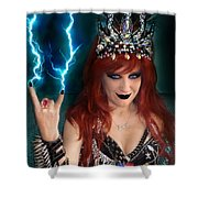 Sofia Metal Queen. Metal Is Lifestyle Shower Curtain