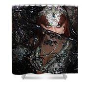 Sofia Metal Queen - Black Metal Bellydancer Model Shower Curtain