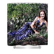 Sofia Of Ameynra. Cybergoth Belly Dancer Shower Curtain