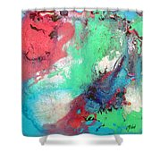 Soft Abstract Shower Curtain