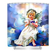 Soft And Dreamy Sweet  Shower Curtain