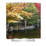 Soft Autumn Pond Shower Curtain