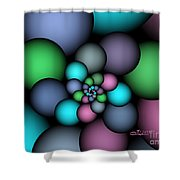 Soft Balloons Shower Curtain
