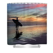 Surfing The Shadows Of Light Shower Curtain