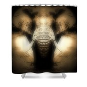 Soft Brown Elephant Shower Curtain