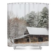 Soft Colors In The Snow Shower Curtain