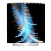 Soft Cosmic Feathers Shower Curtain