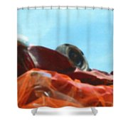 Soft Crushed Car Mountain Shower Curtain
