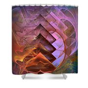 Soft Echoes Shower Curtain