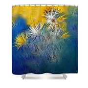 Soft-flowers Shower Curtain