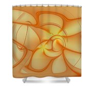 Soft Golden Flow Shower Curtain