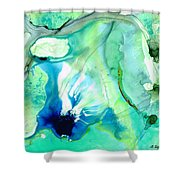 Soft Green Art - Gentle Guidance - Sharon Cummings Shower Curtain