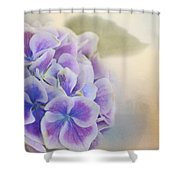 Soft Hydrangeas On Peach Shower Curtain
