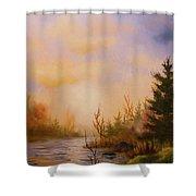Soft Landscape Shower Curtain