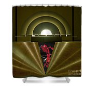 Soft Light Hard Surface Shower Curtain