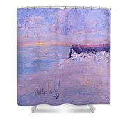 Soft Morning Shower Curtain