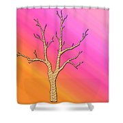 Soft Pastel Tree Abstract Shower Curtain