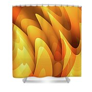 Soft Peaks Shower Curtain