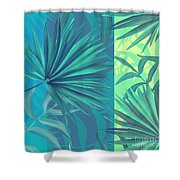 Soft Tropic  Shower Curtain