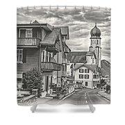 Soft Village Image Shower Curtain