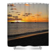 Soft Warm Quiet Sunset Shower Curtain