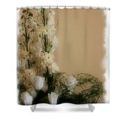 Soft Whites Shower Curtain