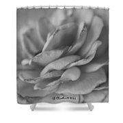 Softly I Wilt Shower Curtain
