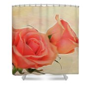 Softly Peach Shower Curtain