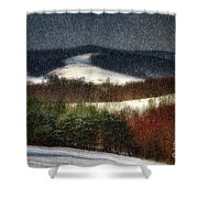 Softly Sifting Shower Curtain by Lois Bryan